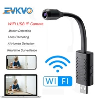 EVKVO HD Смарт мини Wifi USB камера в режиме реального времени ip- камера наблюдения AI Обнаружение человека циклическая запись мини камера Поддержк...
