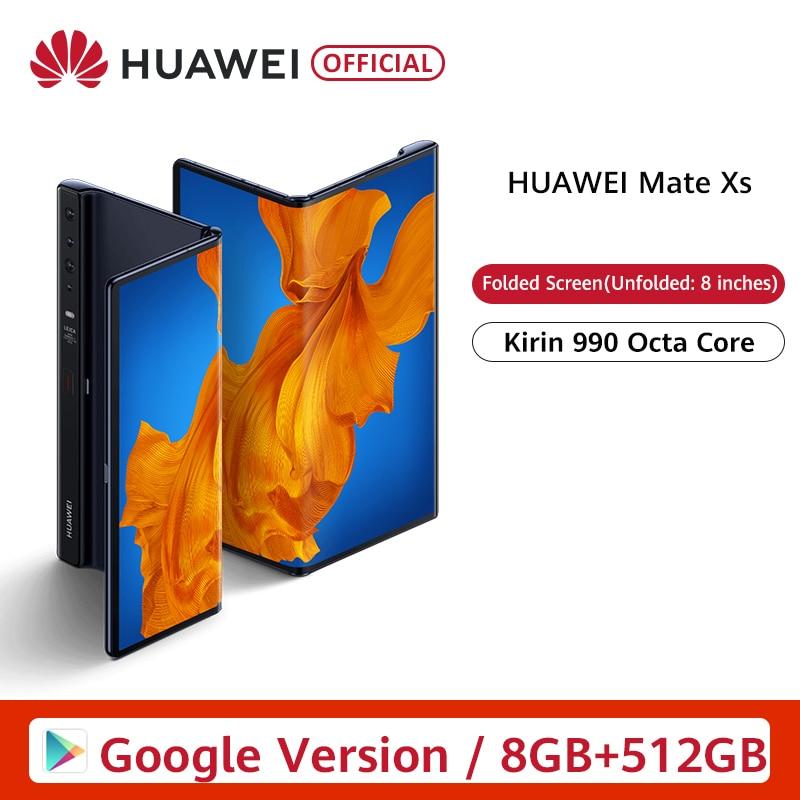 Global Version Huawei Mate Xs 8GB 512GB folded  Smartphone 48MP Triple Cameras main screen 6.6 Unfolded 8 inches Kirin 990