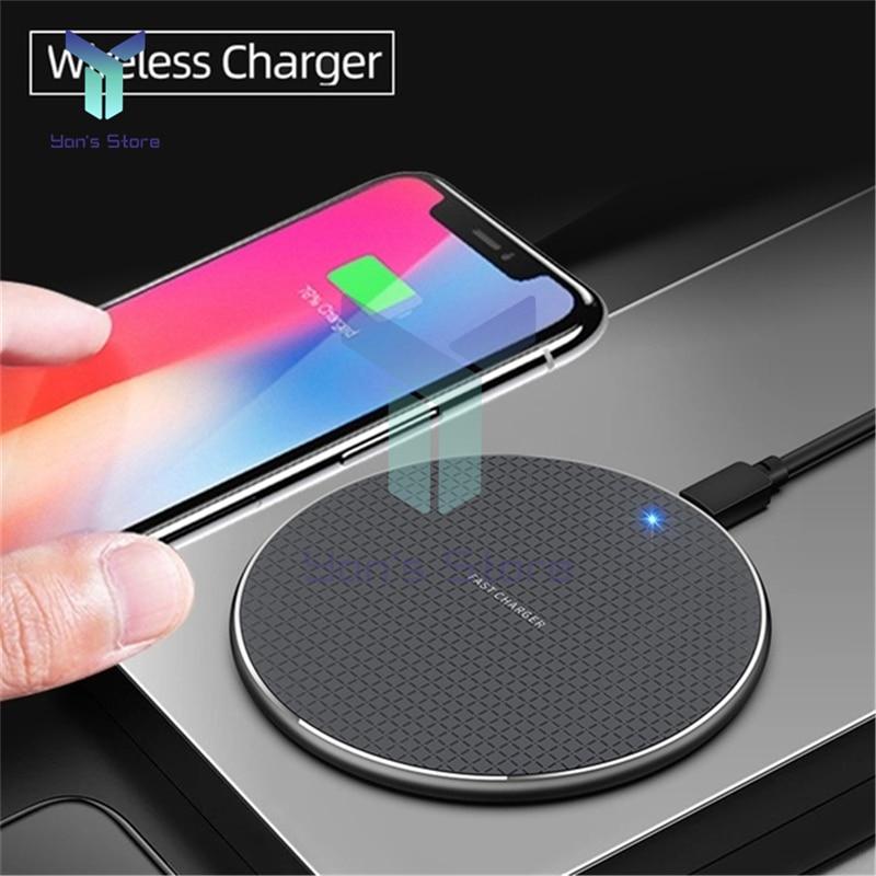 Высококачественное беспроводное зарядное устройство 10 Вт, Быстрое беспроводное зарядное устройство USB, ультратонкое Беспроводное зарядно...