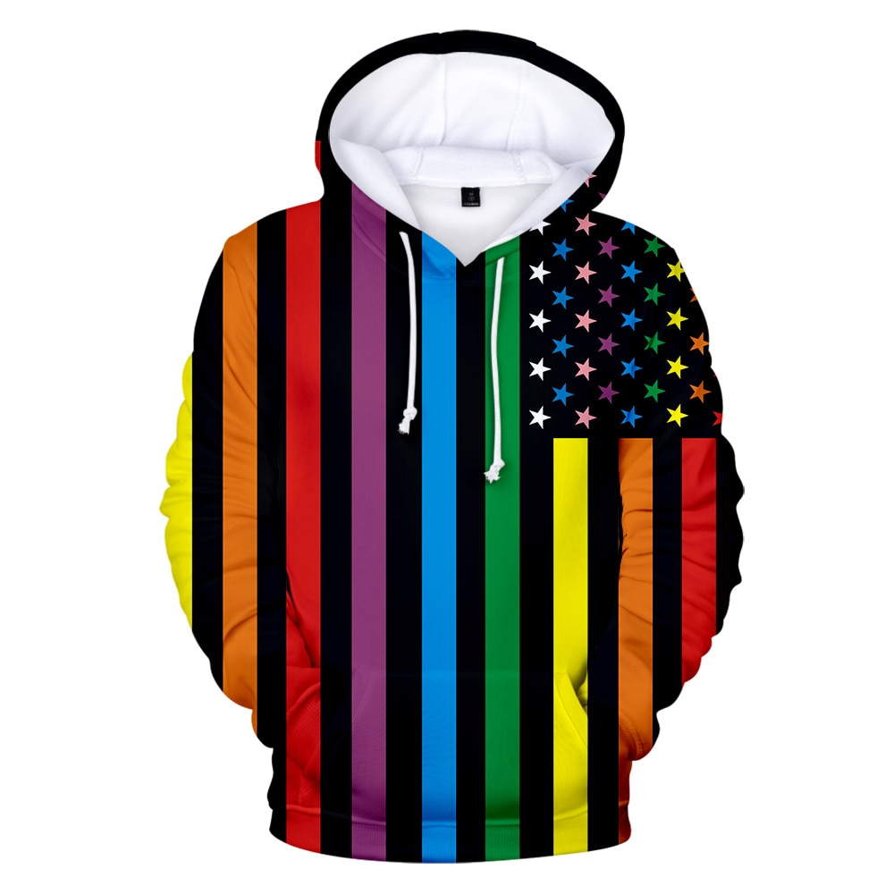 Quente vriendelijke lgbt arco-íris vlag hoodies moletom lesbische orgulho gay kleurrijke regenboog kleren casa gay dec crea t