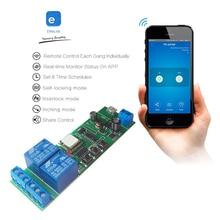 Ewelink Wireless WiFi Smart Home Switch Module WiFi Inching Relay Momentary/Self-Locking/Interlock for Alexa Google Home IFTTTT