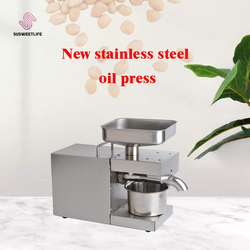 110V/220V automatic oil press machine,oil presser Home ,stainless steel seed oil extractor,Mini Cold hot oil press machine недорого