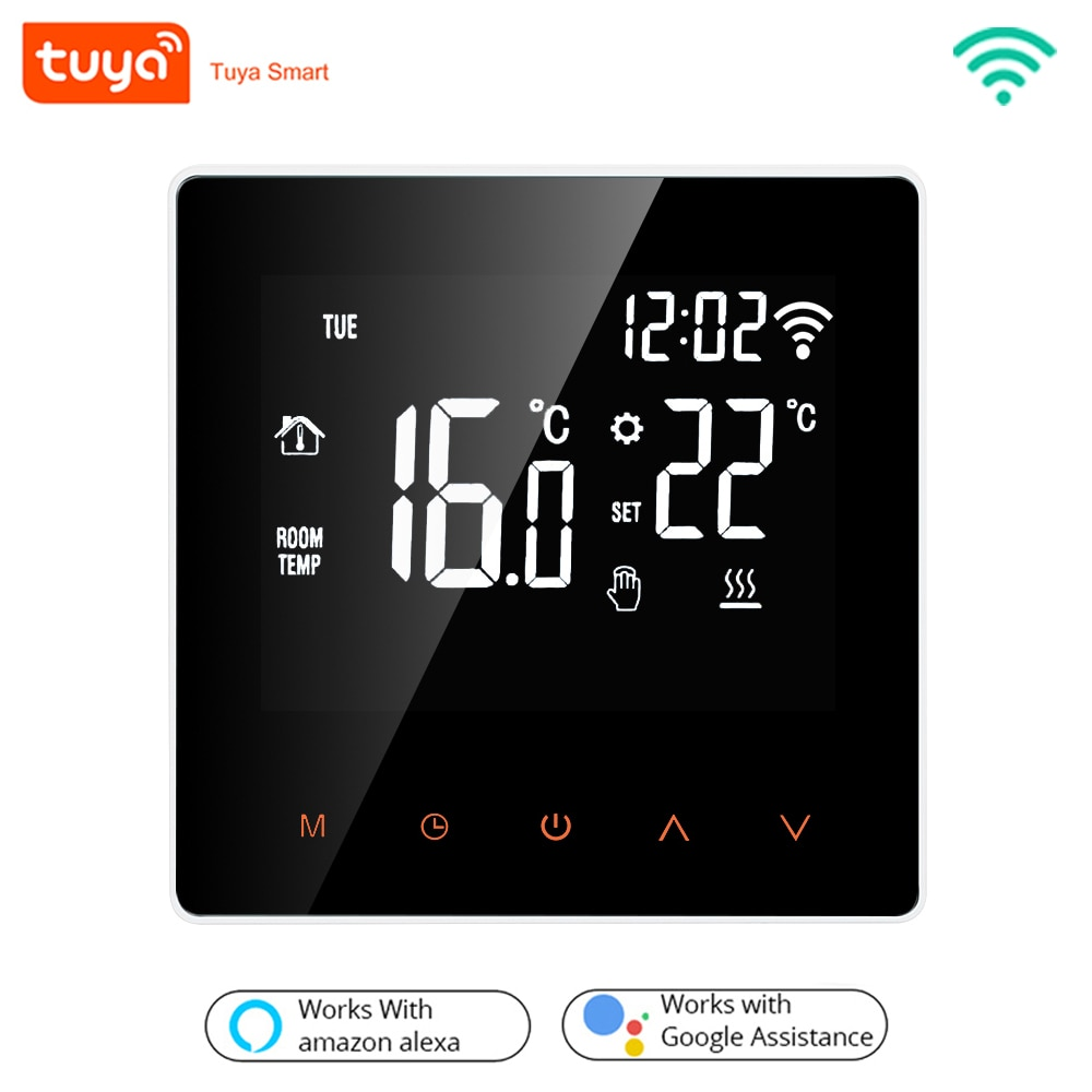 Tuya WiFi Smart Thermostat Electric Floor Heating Water/Gas Boiler Temperature Remote Controller for Google Home, Alexa