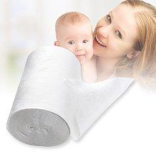 Pañal de tela desechable Biodegradable para bebé, pañales de bambú 100 hojas para 1 rollo 18cm x 30cm ¡en stock! Envío de la gota