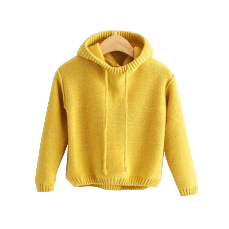 Одежда для малышей осенне-зимние вязаные свитера для маленьких мальчиков и девочек, милые теплые вязаные свитера с капюшоном и кисточками д...