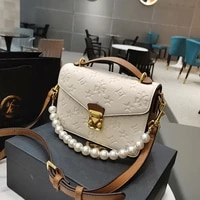 2021 hot sale high quality woman large capacity tote bags bowknot messenger girl purses ladies handbags with pearl strap