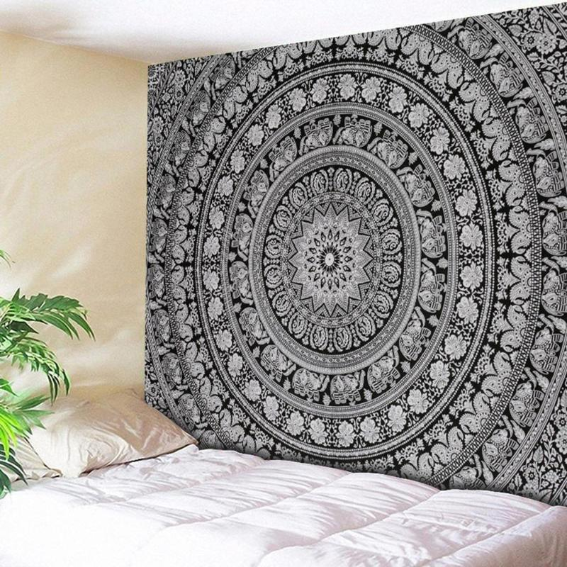 Tapices para colgar en la pared Mandala indio tapiz Retro Boho tapiz de pared playa esterilla viaje toalla manta Yoga esteras hogar alfombra