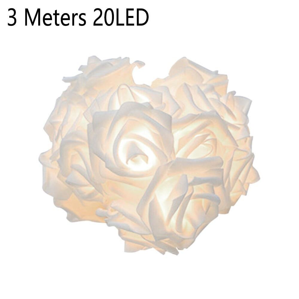 1 шт., гирлянда с 20 светодиодами в виде Розы, 3 м
