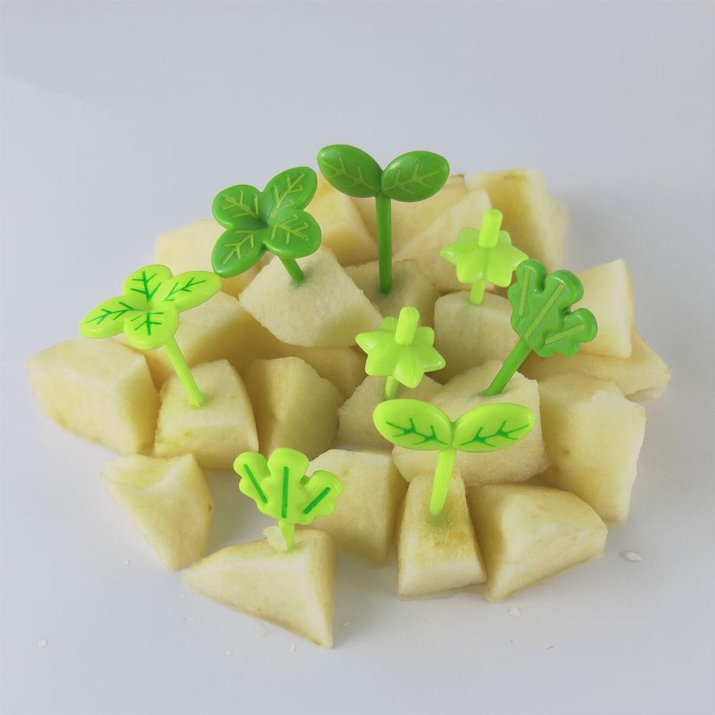 Fiambrera de decoración de plástico con hojas para niños, palillo de dientes,...