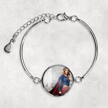 Supergirl الصورة سوار مخصص صور سوار الفضة الصورة إسورة الأم أمي هدية استحمام الطفل لطيف هدية