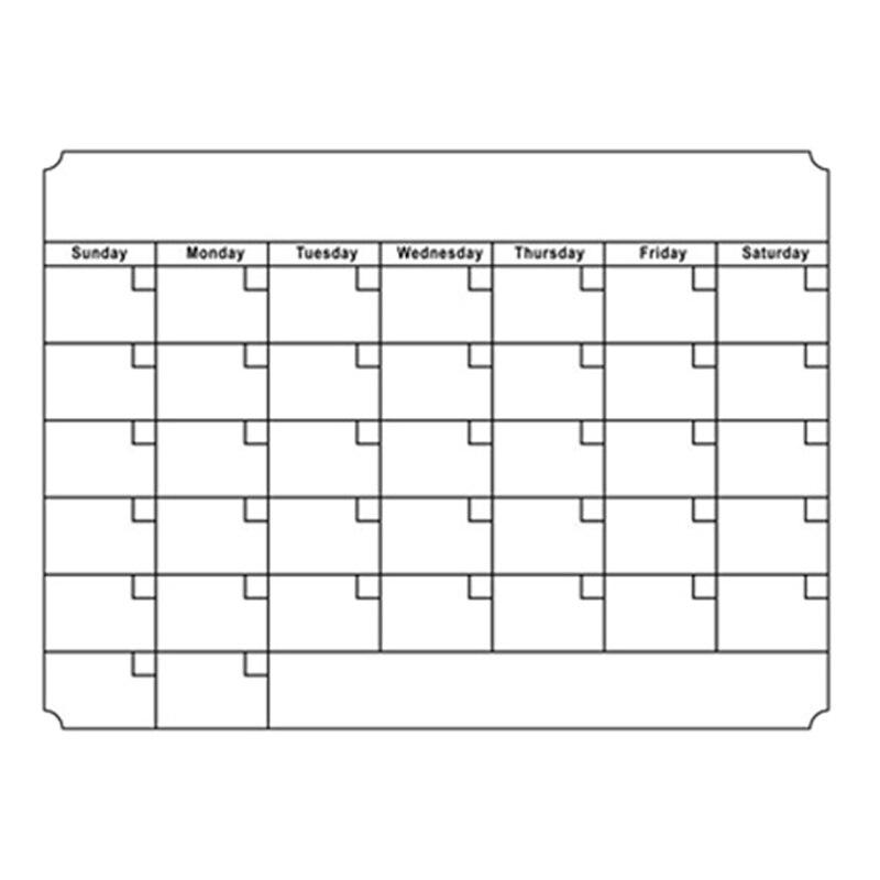 Pizarra blanca A3, planificador mensual, tablero de mensajes magnético, tablones de notas de diario de cocina, tablones de notas, imán para nevera, calendario de dibujo