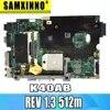Pour For Asus K40AF K40AB K40AD K50AF K50AB K50AD carte mère d'ordinateur portable REV 1.3 512m graphiques 14 pouces Support 2007 CPU