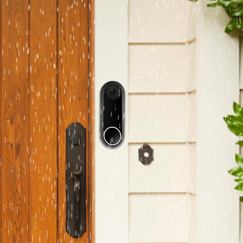 Silicone Protective Case For Nest Hello Video Doorbell UV Weather Resistant Waterproof Night Vision Silica Cover For Nest Hello