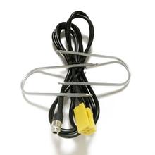 Araba radyo yardımcı kablo MINI ISO 6Pin Aux adaptör kablosu radyo temizleme araçları Fiat Grande Punto Alfa Romeo