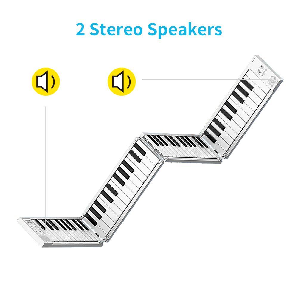 88 Key fold outdoor portable piano electronic piano keyboard midi keyboard  for girl biginner collegue piano enlarge