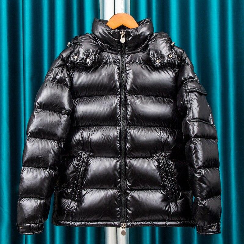 2021 New down jacket men's short winter thickened bright coat parka men