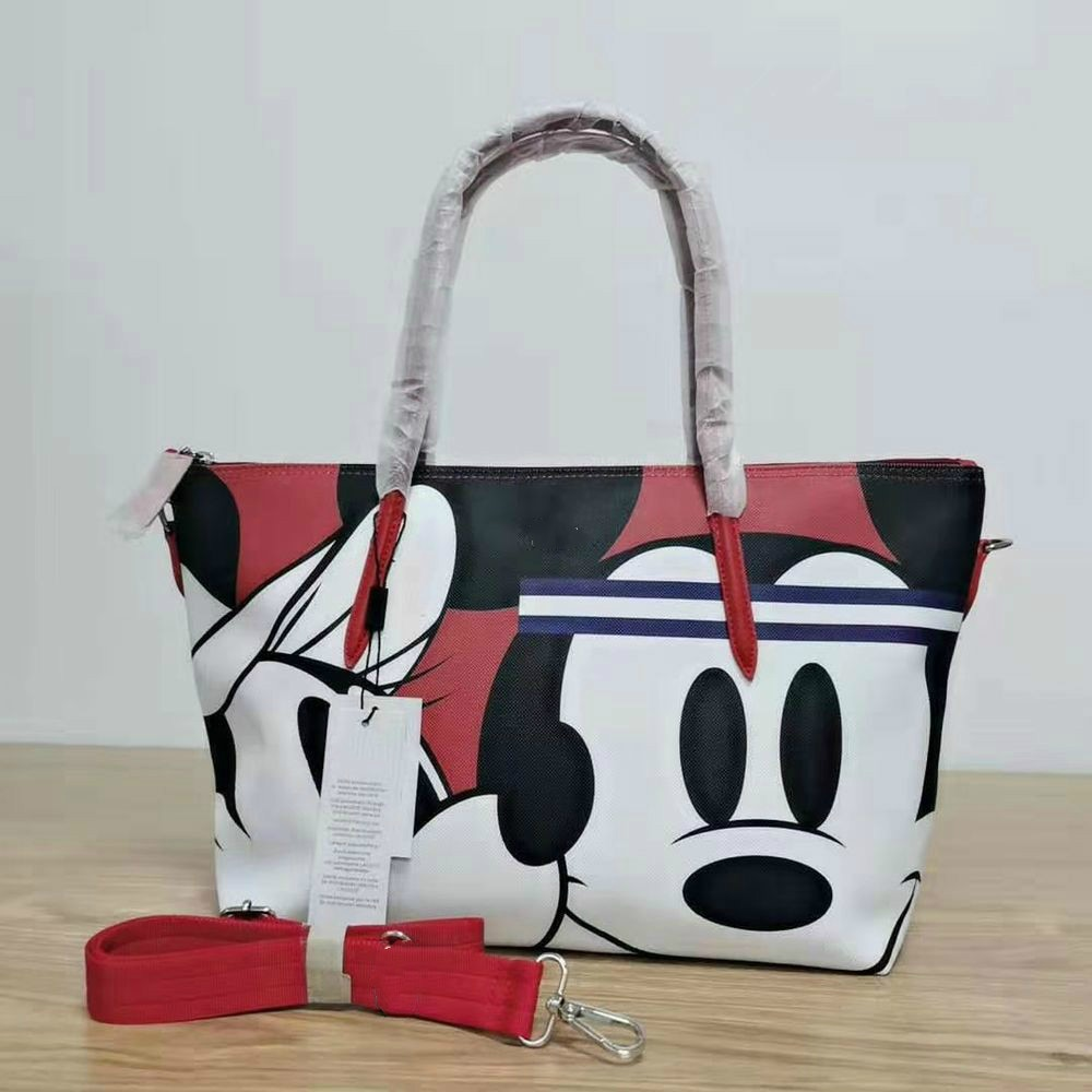 Crocrogo Crocodile & Mickey Cartoon Printing Fashion Women Bag Large Casual Tote Handbag Shopping Sh