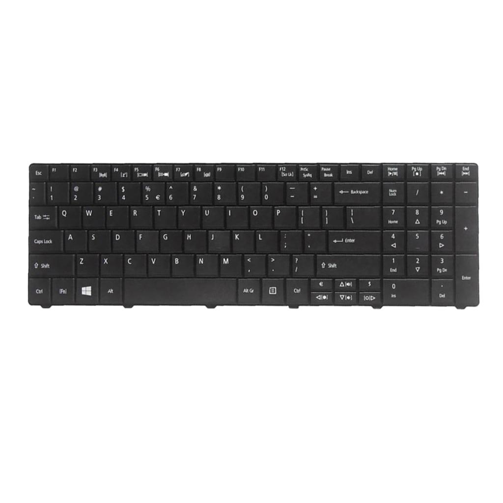 Nos diseño de teclado del ordenador portátil brillante marco negro para Acer...
