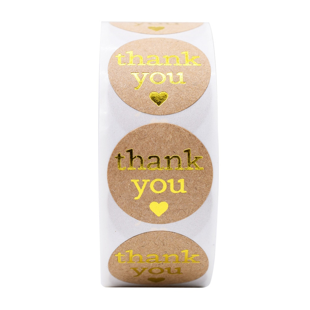 Thank You Stickers Seal Labels for Gift Packaging Sealing Paste Office School Supplies Cute Stationery