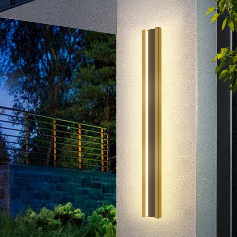 Stainless steel Waterproof outdoor wall lamp LED Long Exterior Wall light IP65 courtyard Light Garden Villa porch Sconce Light enlarge