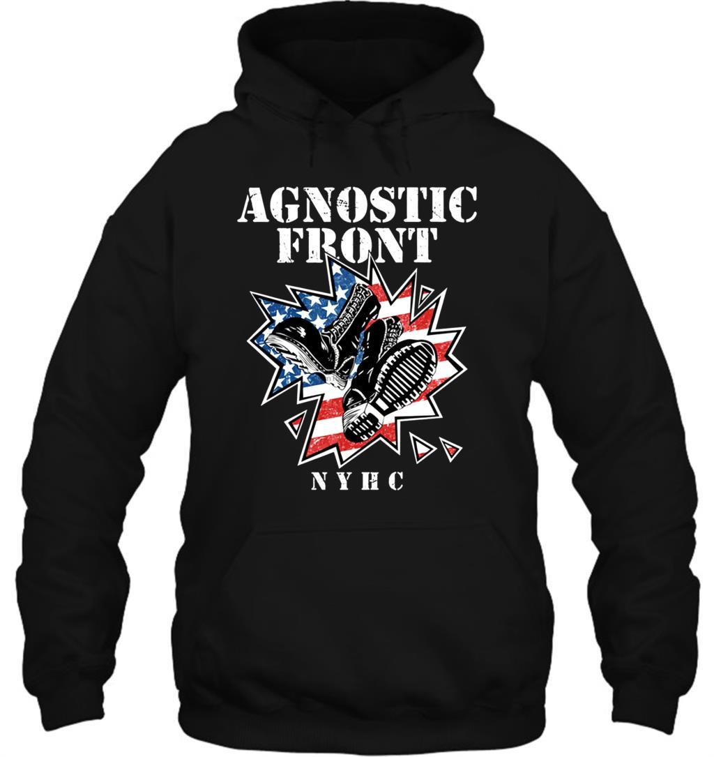 Nrw AGNOSTIC Передняя N Y H C рубашка мужская Agnostic Передняя Размер S 2XL уличная Мужская Женская толстовка с капюшоном