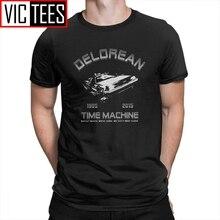 Terug Naar De Toekomst Delorean In Vlucht Mannen T Shirts Nieuwigheid Katoen Korte Mouw Tees O Hals T-shirt Kleding