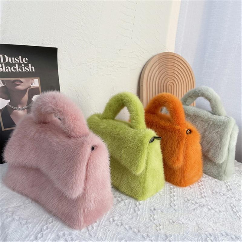 Ladies Mink Shoulder Bag Flip Bag Ladies 2021 New Brand Designer Handbag Chain Messenger Bag Women