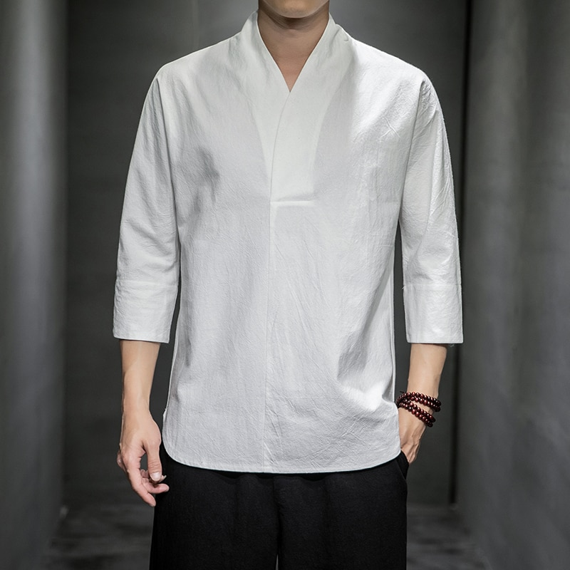 الملابس الملابس الطاوية الصينية الرجال الملابس العرقية البوذية تانغ الملابس الشباب الشاي الملابس الكتان تحسين