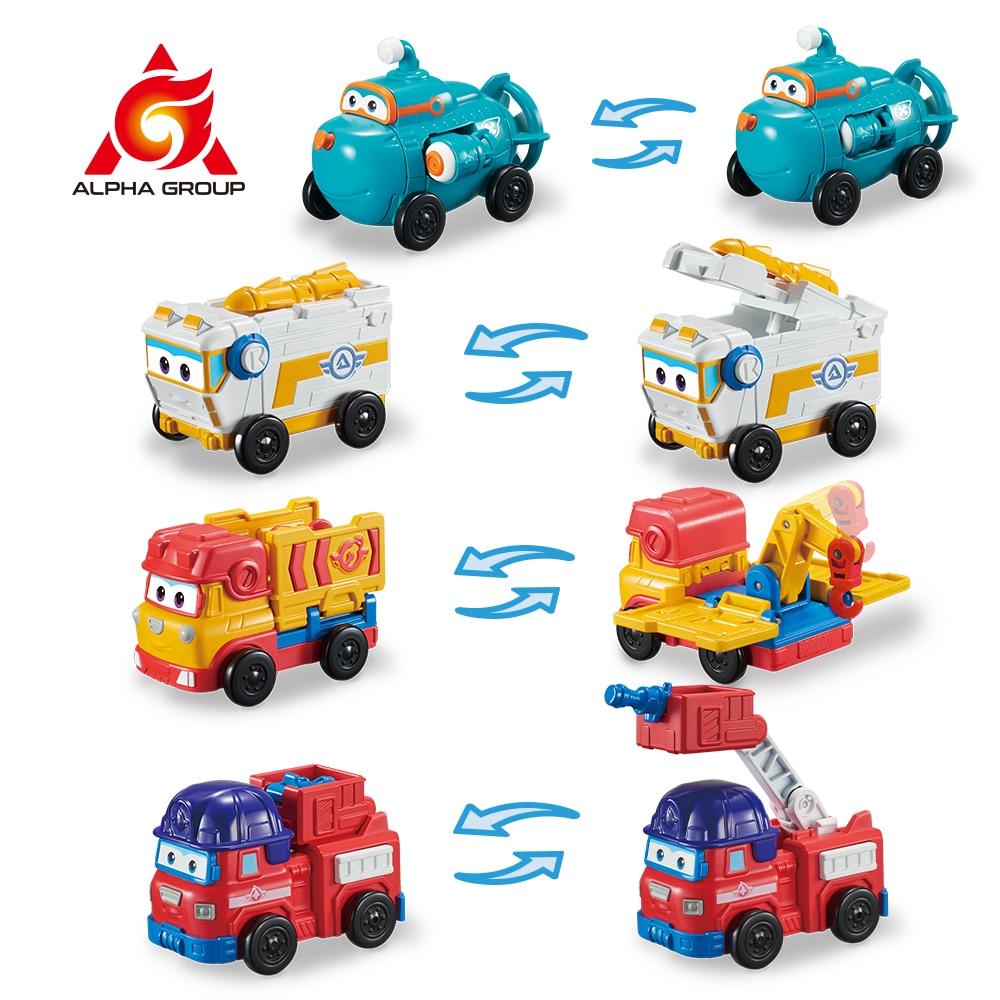 Экшн-фигурки-трансформеры Super Wings 4 Mini Team транспорт Rover Sparky Remi Willy, роботы-трансформеры, игрушки-трансформеры для детей, подарок