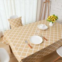 best selling yellow diamond geometry cotton linen tablecloth tablecloth coffee table cloth cloth tablecloth