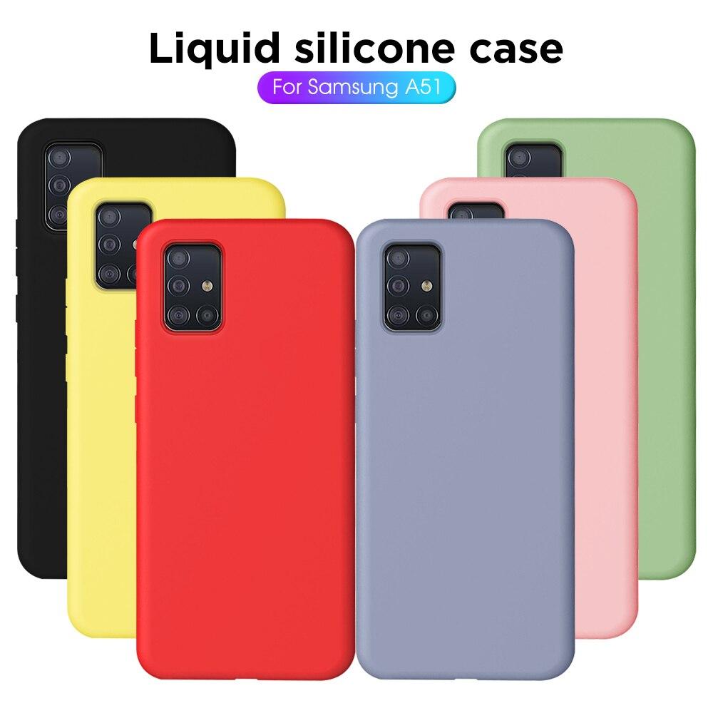 Beso funda para Samsung Galaxy A51 cubierta de la caja de teléfono de silicona líquida funda para Samsung Galaxy A71 SM A515F A717F 51 71 cubierta