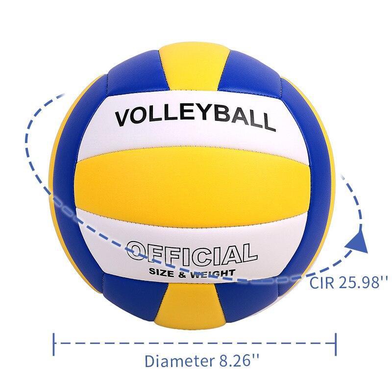 Volley-Ball taille 5 doux Style classique entraînement pratique sport jouer jeux intérieur extérieur haute qualité ballon de plage