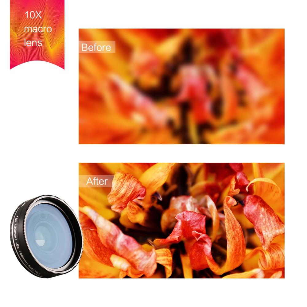 Kapkur phone lens ,18X macro lens HD 4K lens for Huawei Series Smartphone with Kapkur customized phone case enlarge