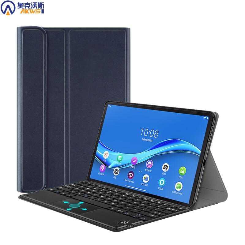 Capa de teclado touchpad para lenovo tab m10 plus, tb-x606f/x 2020 caso de couro teclado para tab m10 TB-X605F 2019