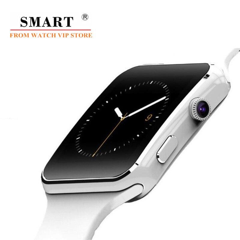 Reloj inteligente X6 podómetro Cámara pantalla táctil conectar reloj soporte tarjeta SIM TF rastreador Bluetooth reloj inteligente para iPhone Android