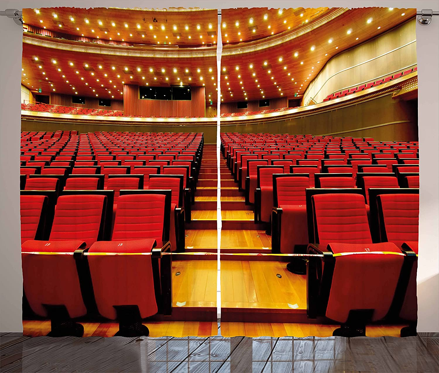 Musical Theatre Window Curtains for Kids Room China National Grand Theater Hall Chairs Auditorium Eastern ry Window Drapes