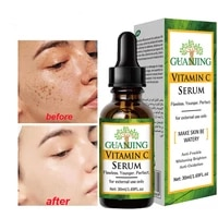 vitamin c whitening face serum lighten spots brightening facial skin essence fade dark spots remove freckle speckle skin care