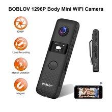 BOBLOV C18 Mini Camera WIFI Motion Detect 32GB/64GB HD 1296P Professional BodyCam Micro Magnet Camco