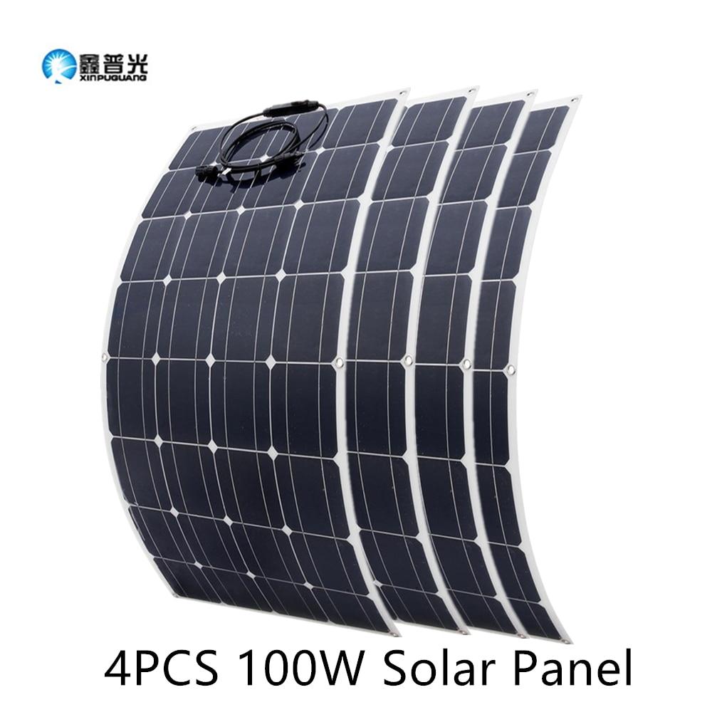 2Pcs 4Pcs 10Pcs 100W Solar Panel Monocrystalline Solar Cell Flexible for Car/Yacht/Steamship 12V 24 Volt 100 Watt Solar Battery