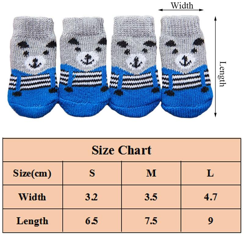 4бр топли обувки за кученца меки - Продукти за домашни любимци - Снимка 3