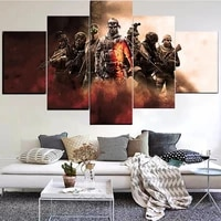 5 pieces wall art canvas painting game character poster modern living room bedroom home modular pictures decoration dropshipping