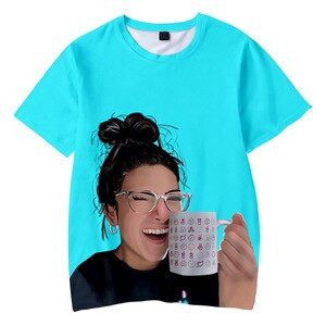 Funny Charli D'Amelio 3D Printed Children T Shirt Casual Spring/Summer Short Sleeve Tshirt Fashion For Kids Tees