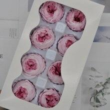 1 boîte fleur éternelle Austin rose fleur diamètre 4-5cm fleurs conservées boîte cadeau matériel