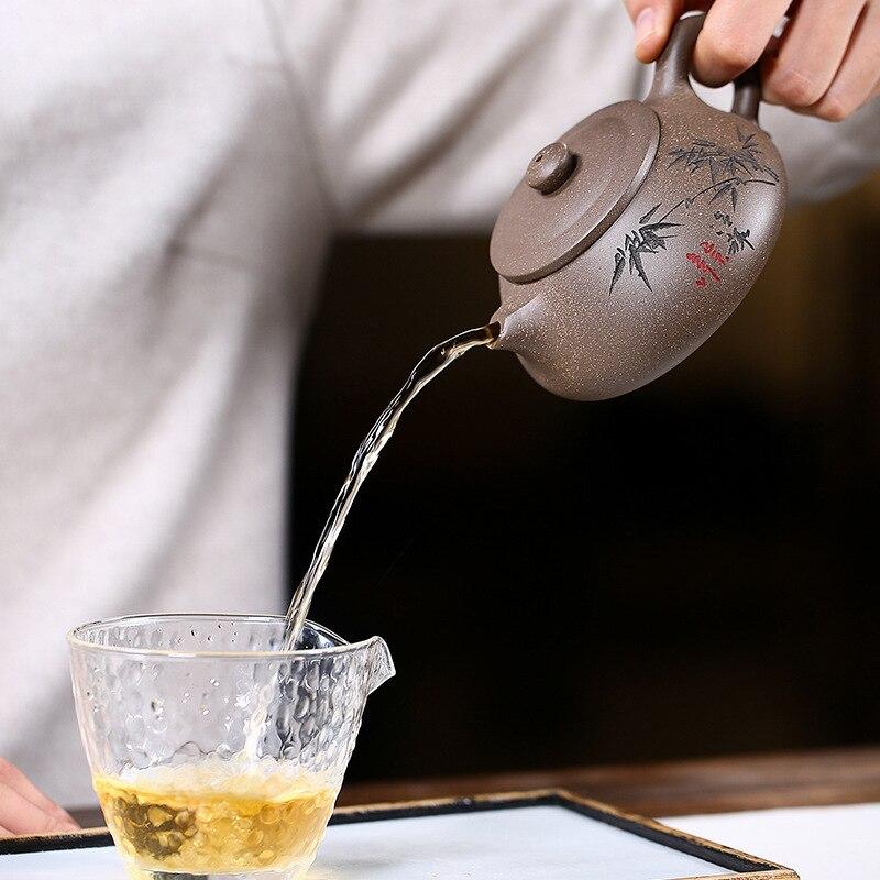إبريق شاي Yixing أصلي مصنوع يدويًا من Shi Piao kong Fu ، طقم شاي إبداعي ، صندوق هدايا