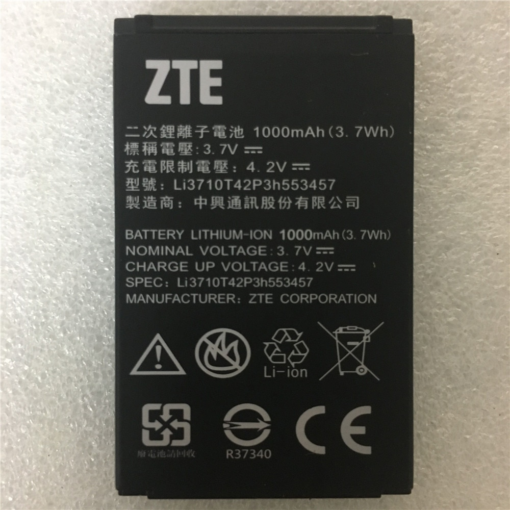 3,7 V 1000mAh Li3710T42P3h553457 мини батарея высокого качества для батарея для ZTE запасная батарея
