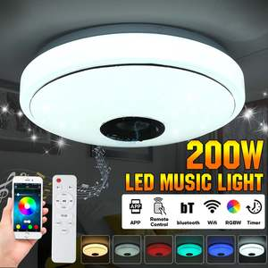 Modern RGB LED Ceiling Lights Home lighting 200W APP bluetooth Music Light Bedroom Lamps Smart Ceiling Lamp+Remote Control