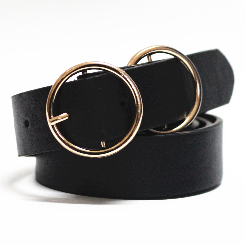 Círculo Pin hebillas cinturones Punk párr mujer Pantalones vaqueros de diseño de cintura salvaje de cuero GG cinturones de moda p