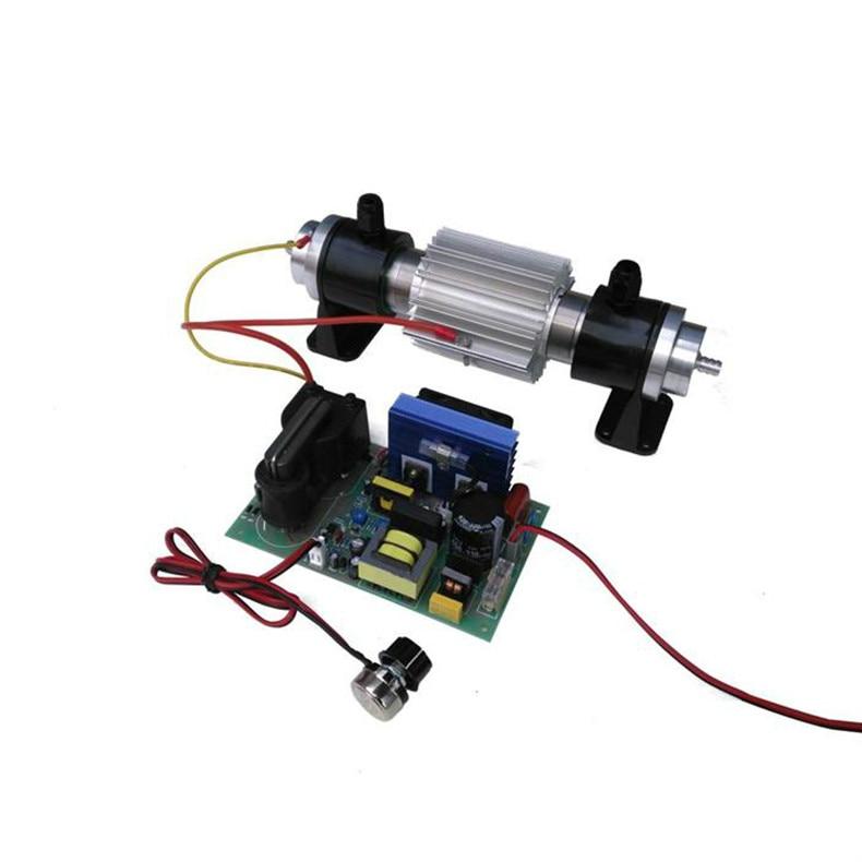Tubo de ozono de 15G de refrigeración por agua + fuente de alimentación de alto voltaje ajustable tratamiento de agua Industrial accesorios de generador de ozono