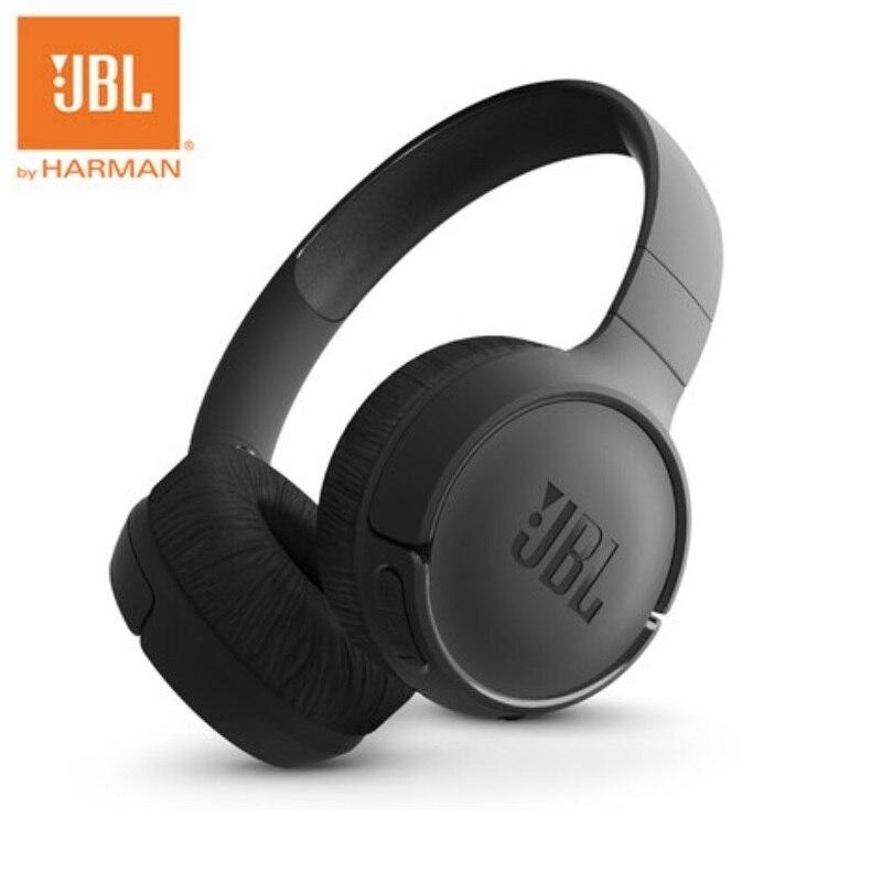 JBL-سماعة بلوتوث لاسلكية T500BT ، سماعات أذن قابلة للطي مع ميكروفون وشحن سريع Siri ، للرياضة