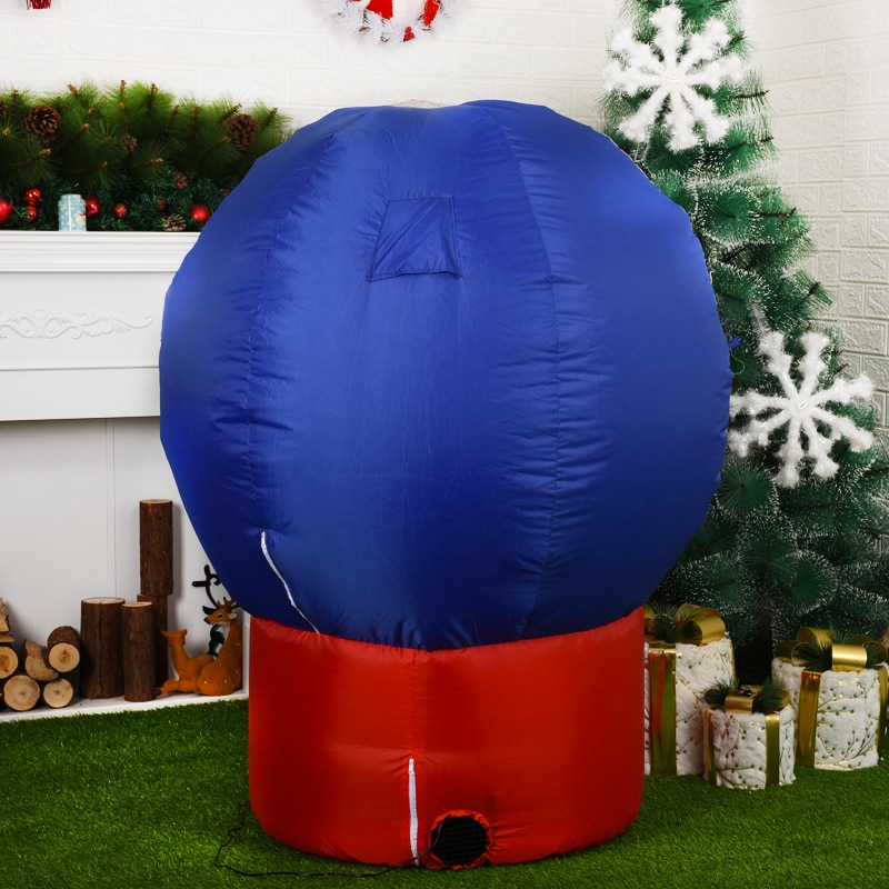 Christmas Decoration Inflatable Snowball with Santa Claus 1.2m High Inflatable Decoration Yard Lawn Decoration New Year Party enlarge